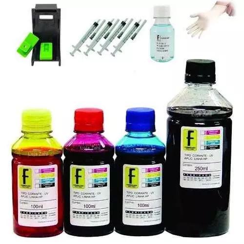 650ml kit tinta p/ impressora hp deskjet advantage 2676 2675