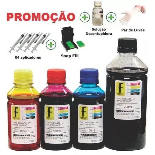 650ml kit tinta recarga cartuchos impressora hp 122 662 60