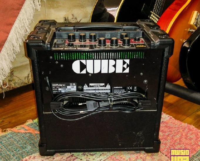 Cubo amplificador de guitarra 15w roland cube 15xl estudo