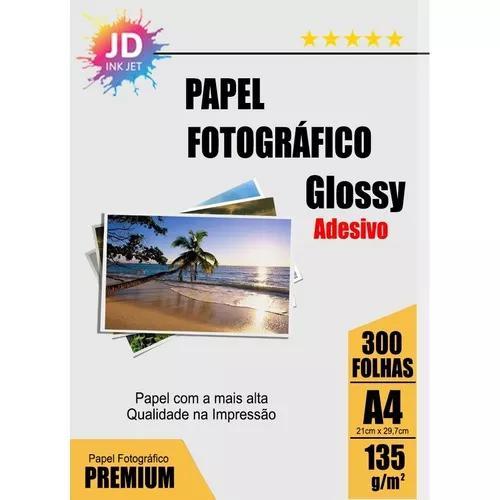 Foto adesivo 300un glossy photo paper à prova d´água 135g