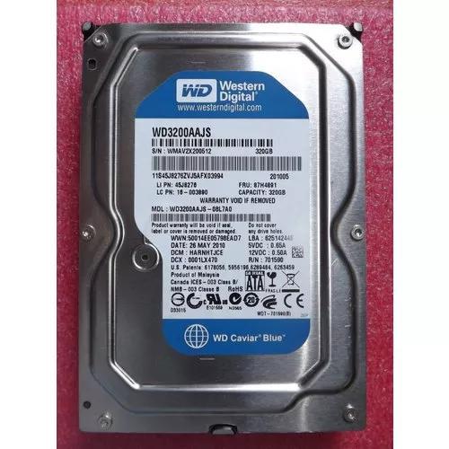 Hd 320gb wd 7200rpm pc desktop