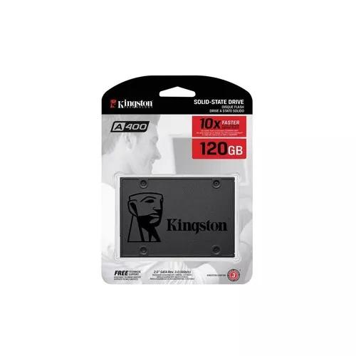 Hd ssd 120 gb sata 3 kingston a400 - 500 mb/s (10x +
