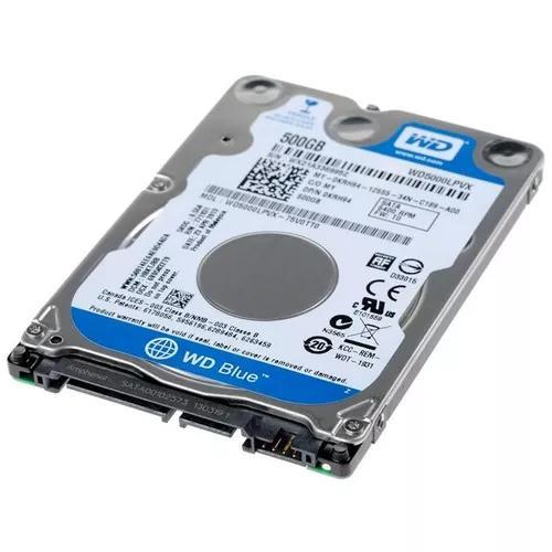 Hd wd sata 500gb 5400rpm notebook wd5000 slim 7mm
