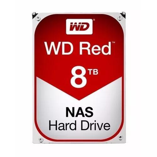 Hd wester digital red 8tb 5400rpm sata3 6gb/s 128mb wd80efzx