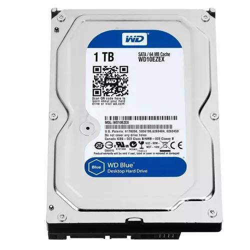 Hd western digital sata 1tb blue 7200rpm 3.5'' p/ pc 64mb