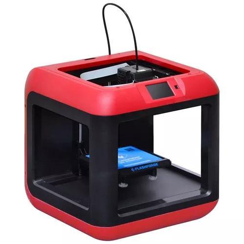 Impressora 3d finder flash forge wi-f e usb c/ filamento