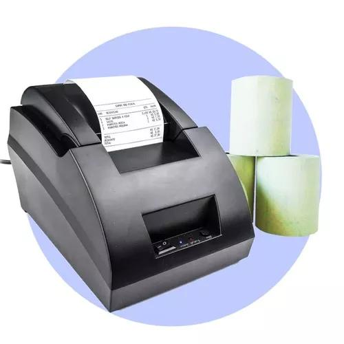 Impressora térmica ticket de cupom 58mm + 10 bobina 57x30