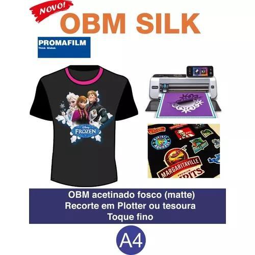 Obm silk - a4 - 50 folhas + 50 papel sublimático a4