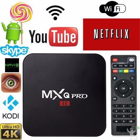 Tv box - smart tv - netflix mxq pro hd 4k android 7.1 2