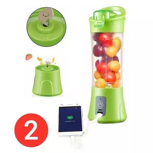 2x mini liquidificador portatil recarregavel juice cup + usb