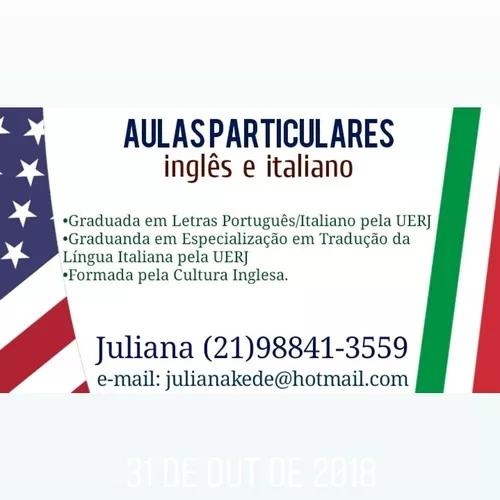 Aulas particulares de inglês e italiano