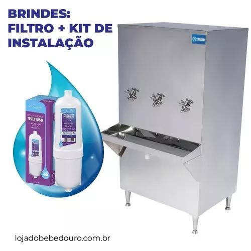 Bebedouro purificador de água 200 litros c/ filtro promocao