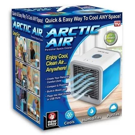 Climatizador arctic air cooler luminaria ventilador bivolt