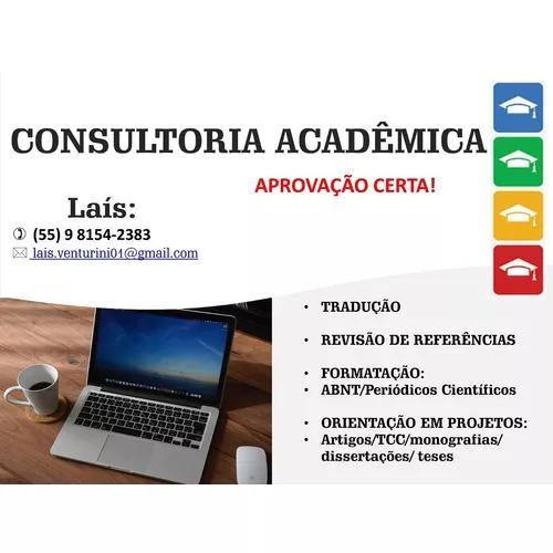 Consultoria acadêmica especializada - formatação e outros