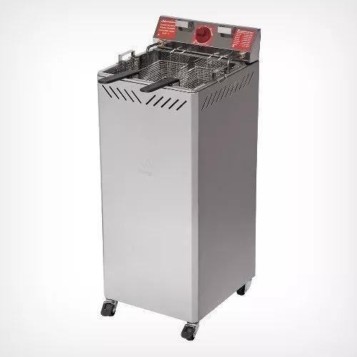 Fritadeira elétrica industrial gabinete 25 l água óleo