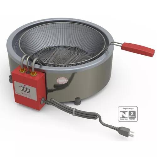 Fritadeira profissional 7 l eletronica tacho aço