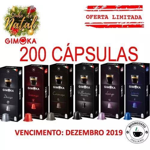 Kit 200 cápsulas café compatíveis nespresso - gimoka