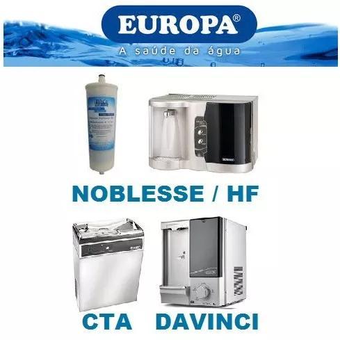 Refil filtro purificador europa noblesse plus, cta,davinci