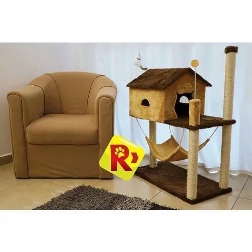 1 uni arranhador com casa rede grande alta gatos top são