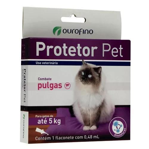 4 protetor pet gato antipulgas ate 5kg 0,48ml ourofino