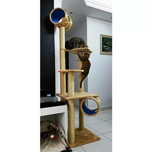 Arranhador de gato castelo gigante