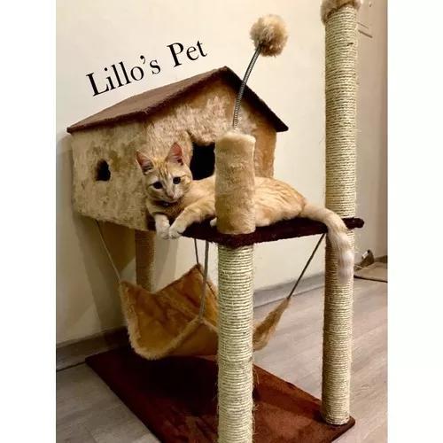 Arranhador gato casa com rede grande