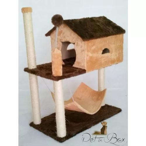 Arranhador gato casa com rede grande frete + barato