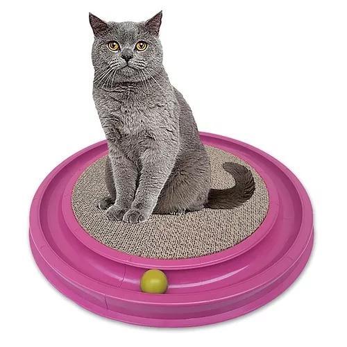 Arranhador para gatos com brinquedo cat pet barato 50x50cm