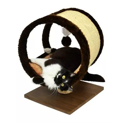 Arranhador redondo madeira ring toca gatos
