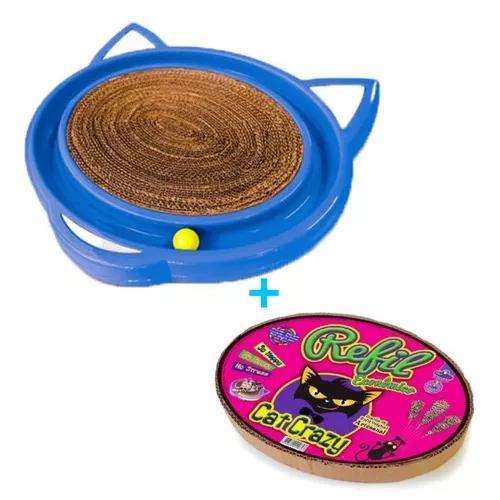 Brinquedo arranhador para gato bolinha cat crazy +refil ext