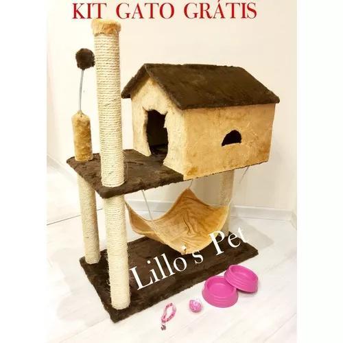 Brinquedo casa com rede + kit gato