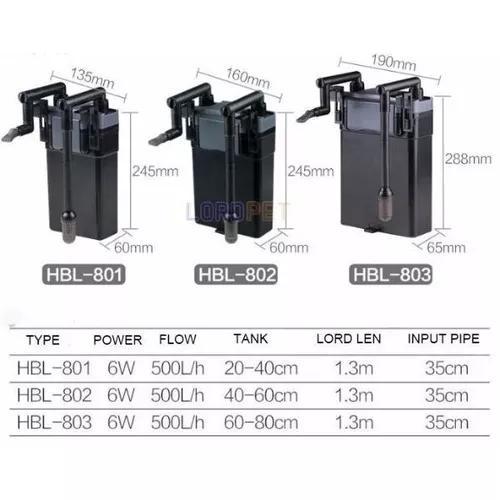 Filtro externo hang on sunsun hbl-802 500l/h 110v / 220v