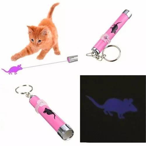 Frete r$13 pet chaveiro laser pointer rato para seus gatos
