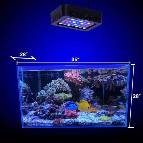 Luminária super led aquário marinho e corais 140w c/3