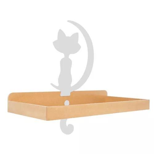 Prateleira belvedere nicho para gatos carlu pet cinza claro