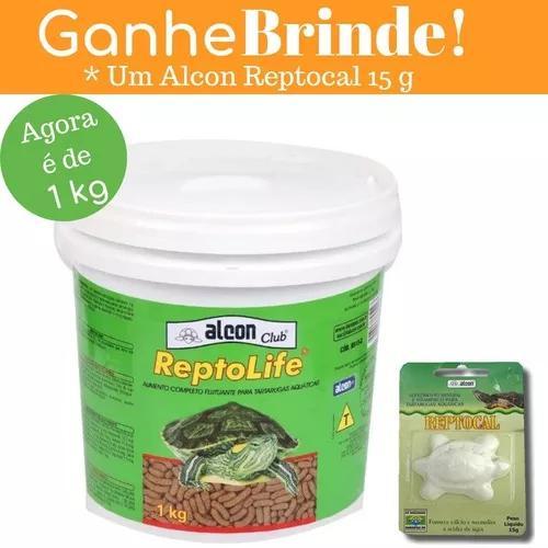 Ração alcon club reptolife 1,0kg tartarugas + brinde