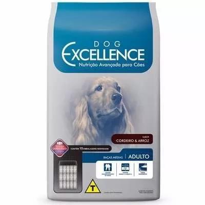 Ração dog excellence cães adultos rç méd cordeiro arroz