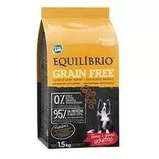 Ração equilibrio grain free cães adultos raça méd gran