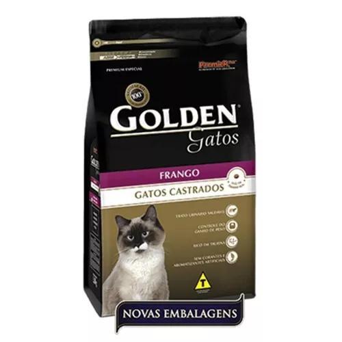 Ração golden gatos castrados frango 10 kg