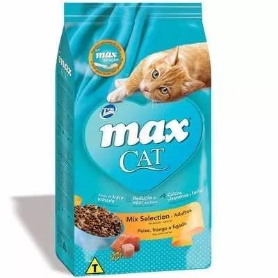 Ração max cat mix selection para gatos adultos 20kg