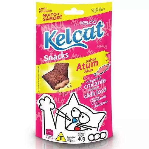 Snack kelcat para gatos adultos e filhotes sabor atum - 40g