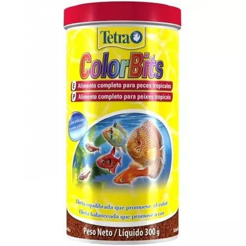Tetra colorbits granules 300g ração original peixes