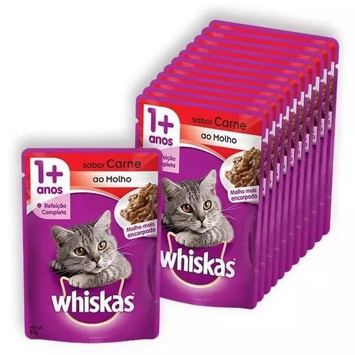 Whiskas sache 3 caixa c/ 18 unidades (sabores diversos)