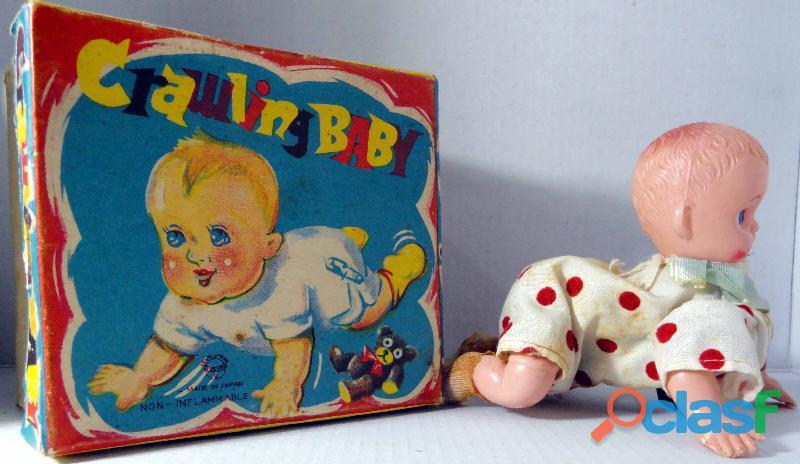 Antiga boneca crawling baby.funcionando japonesa cx original.