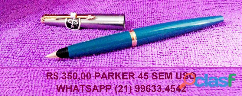 Caneta Parker 45 antiga. Sem uso. 2