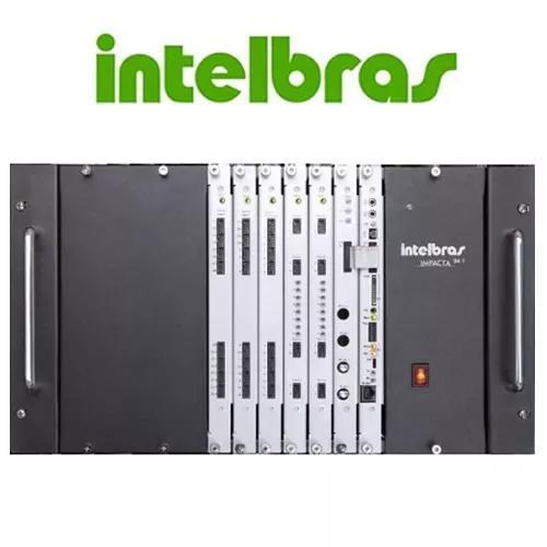 Central pabx híbrida intelbras impacta 140 rack acesso