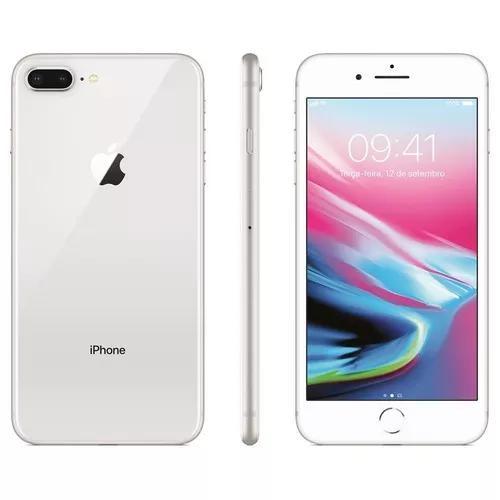 Iphone 8 plus novo lacrado nf tela 5,5 4g 64gb 12mp ac troca
