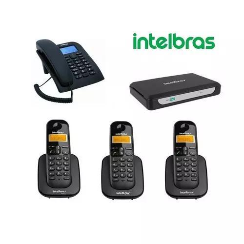 Kit central telefonica intelbras pabx até 2 linhas + ramais