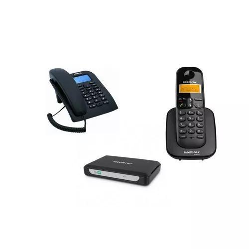 Kit Pabx Central Telefonica Minicom Slim Intelbras 2 Ramais