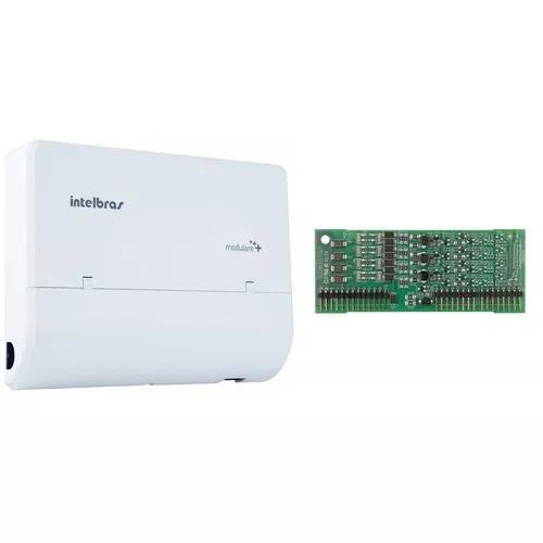 Microcentral telefonia fixa modulare + 2x8 intelbras kit 1